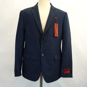 Alfani RED Slim Fit Sports Coat Blazer Blue Black